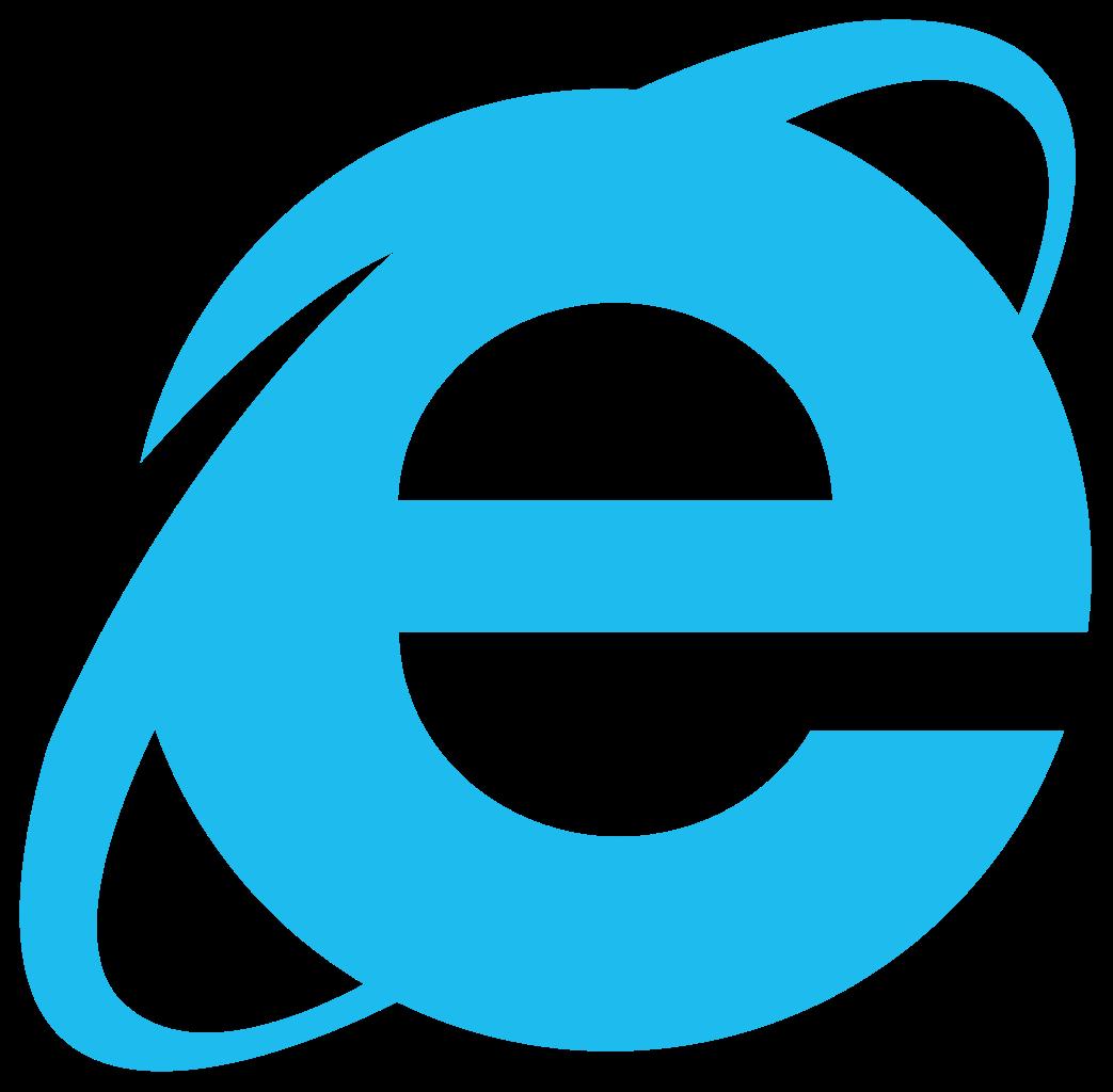 Internet Explorer logo.
